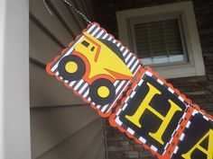 Construction Birthday Party Banner Personalized by SavyJax on Etsy, $35.00