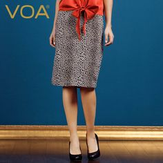 Find More Skirts Information about VOA leopard silk skirt classic European style silk printing pencil skirt female C5017,High Quality skirt denim,China skirt modeling Suppliers, Cheap skirt lures from VOA Flagship Shop on Aliexpress.com