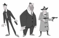 Just some noir detectives. ★    CHARACTER DESIGN REFERENCES (https://www.facebook.com/CharacterDesignReferences & https://www.pinterest.com/characterdesigh) • Love Character Design? Join the #CDChallenge (link→ https://www.facebook.com/groups/CharacterDesignChallenge) Share your unique vision of a theme, promote your art in a community of over 40.000 artists!    ★