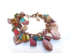 Boho Bracelet / Multicolor bracelet / Gypsy bracelet / Natural Shell bracelet…