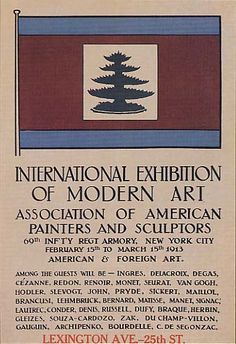 The Armory Art Show of A groundbreaking art show that introduced many Americans to modern art. The display included both European and American artists and completely changed the direction of art in the U. Henri Matisse, Marcel Duchamp, List Of Artists, New York Art, Exhibition Poster, Renoir, Historical Society, Portrait Art, Portraits