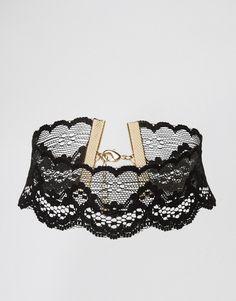 Image 1 ofASOS NIGHT Lace Choker Necklace