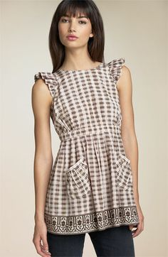 Plenty by Tracy Reese 'Pinafore' Print Silk Blouse available at #Nordstrom. Not for $185 though!
