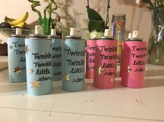 Twinkle Twinkle Little Star Gender Reveal Party Silly Spray Cans