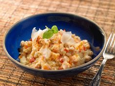 Sweet Potato & Chickpea Risotto from Cookspiration by DietitiansCAN Healthy Meals To Cook, Heart Healthy Recipes, Nutritious Meals, Healthy Food, Vegetarian Cooking, Vegetarian Recipes, Sweet Potato Risotto, Tomato Risotto, Vegetarian Main Course