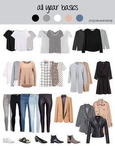 The Stay-at-Home Moms' Winter Outfit Guide (eBook) 21 Year Round Minimalist Capsule Wardrobe Ideas Capsule Wardrobe Mom, Capsule Outfits, Fashion Capsule, Wardrobe Basics, Mode Outfits, Fashion Outfits, Wardrobe Ideas, Mom Wardrobe, Basic Wardrobe Essentials