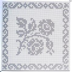 Home Decor Crochet Patterns Part 105 - Beautiful Crochet Patterns and Knitting Patterns Filet Crochet Charts, Crochet Diagram, Crochet Motif, Crochet Doilies, Crochet Stitches, Modern Crochet, Crochet Home, Cross Stitch Patterns, Knitting Patterns