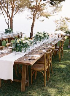 Elegant, Romantic and Organic Wedding Ideas - the most important thing remember as you browse through our wedding color ideas is that this is your wedding Outdoor Wedding Reception, Wedding Table, Rustic Wedding, Big Sur Wedding Venues, Nashville Wedding, Outdoor Weddings, Wedding Songs, Reception Ideas, Elegant Wedding