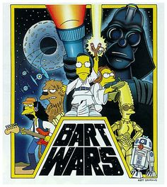 The Simpsoms Star Wars Poster!!. All the characters in all the posters means there all telling you the same story, and are apart of it all.