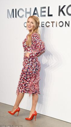 Mix it up in a floral patterned Michael Kors dress #DailyMail