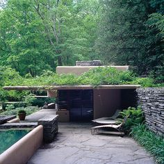 Fallingwater guest house, Frank Lloyd Wright, Mill Run, Pennsylvania