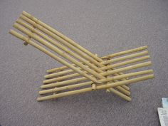 how to make bamboo furniture. A Simple Bamboo Chair, Meant To Be Manufactured By The Local Craftsmen Of Madhyapradesh. Uses Only Process Cutting Dowelling. Assebled Together How Make Furniture