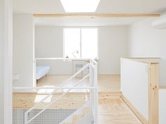 - wood tops on the half walls are an interesting detail