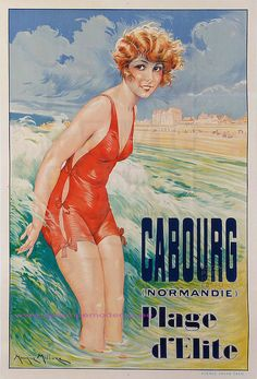 Cabourg Plage d'Elite - Normadie, france .