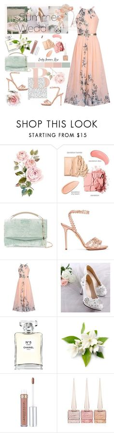 Say I Do: Summer Weddings by ellie366 ❤ liked on Polyvore featuring Eddie Borgo, Charlotte Olympia, WithChic, Chanel, Christian Louboutin, Jennifer Behr, wedding and summerwedding