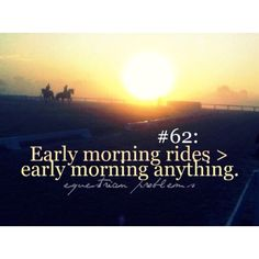 So true. I love early early morning rides in the summer. Like 4 am. :-) so peaceful
