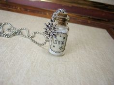 LET IT GO Snow 2ml Glass Vial Necklace - Glass Bottle Pendant - Snowflakes - Snow Glitter on Etsy, $12.50