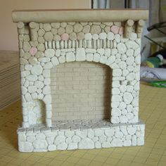 Bella! Studio, Life in Miniature: Log Cabin Fireplace Mold Making | just thinking of all the ways I could make this.....