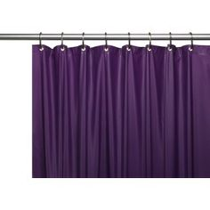 Carnation Home Hotel Collection, 8 Gauge Vinyl Shower Curtain Liner w/ Metal Grommets in Monaco Blue Hotel Shower Curtain, Vinyl Shower Curtains, Shower Curtain Hooks, Curtain Rods, How To Clean Metal, Shower Liner, Mold And Mildew, House Styles