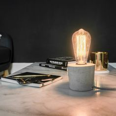 KIT DIY - LA LAMPE EN CIMENT