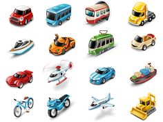 Transportation Icons (all in attachment) by Octoberweb