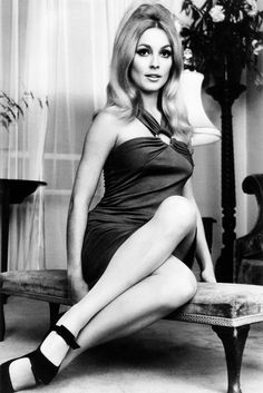 Sharon Tate in her London apartment, 1965