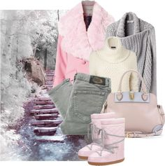 """stairway to winter"" by sagramora ❤ liked on Polyvore"