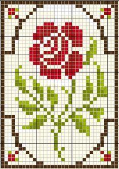 Small Cross Stitch, Cross Stitch Borders, Cross Stitch Rose, Cross Stitch Flowers, Cross Stitch Charts, Cross Stitch Designs, Cross Stitching, Cross Stitch Embroidery, Cross Stitch Patterns
