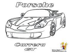 car coloring of porsche carrera at httpwwwyescoloringcom