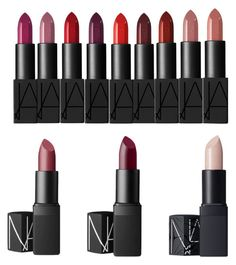 winter lipstick pallet by parridise on Polyvore featuring polyvore, beauty and NARS Cosmetics