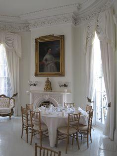 Nottaway Plantation's White Ballroom set up for a Wedding Reception