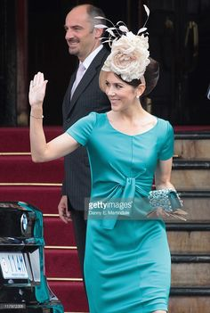 News Photo : Crown Princess Mary of Denmark is seen leaving...