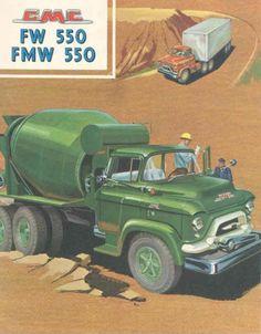 1958 GMC FW550 FMW550 Mixer Truck Sales Brochure wx7020-XUJ711