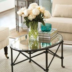 brass & glass oval coffee table | decor | pinterest | oval coffee