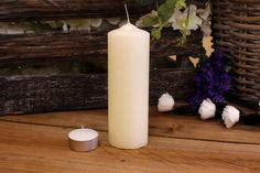 Κεριά Κυλινδρικά Εκρού Φ5x15εκ Pillar Candles, Taper Candles