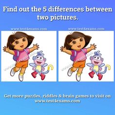 Find out the 5 differences between two pictures Brain Teasers Pictures, Play Puzzle, Brain Teaser Puzzles, Mind Relaxation, Logic Puzzles, Brain Games, Cartoon Pics, Riddles, Winnie The Pooh