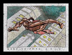 Daredevil sketch card - by Gary Shipman