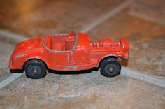 "Tootsie Toy Vintage Die Cast Model ""B"" Red Roadster  #TootsieToy"