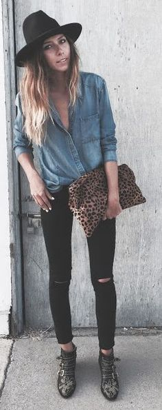 Ivanarevic Denim, Black And Leo Outfit Idea