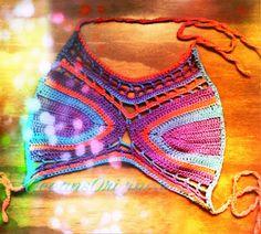 Free crochet pattern. Bikini/crop top
