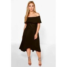 d97a9d530446 Boohoo Plus Elizabeth Double Layer Midi Dress Black Size UK 20 DH172 EE 04  #fashion