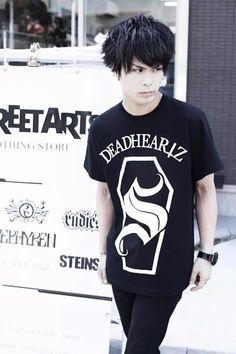 """Satoshi from Girugamesh's """"STREET ARTS"""" Photoshoot"""