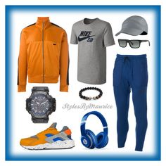 """""""Men's Athletic Apparel"""" by mauricee-brewer on Polyvore featuring NIKE, AMI, Beats by Dr. Dre, Prada, G-Shock, men's fashion and menswear"""