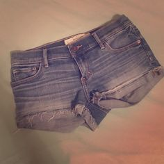 Abercrombie and Fitch shorts! Light wash Abercrombie and Fitch denim. Shorts lightly destroyed. Super cute and go with a lot. Abercrombie & Fitch Shorts Jean Shorts
