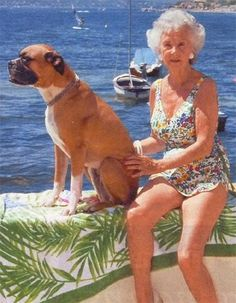 Princess Lilian of Sweden, July 1988 with her boxer