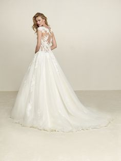 Brautkleid Prinzessin-Stil Tüllpasse