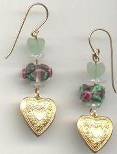 Holiday-Themed Earring Projects: Lovely Flower/Heart Earrings