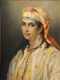 Jean Francois Portaels (Belgian, 1818-1895) - Haouisha Moresque