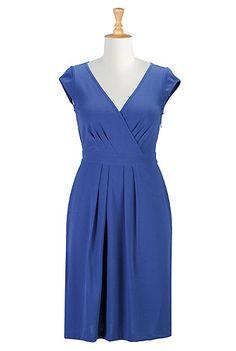 I <3 this Blues jersey knit dress from eShakti