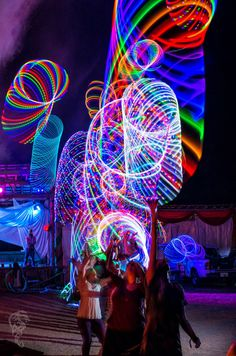 LED Hoop Mania at Flow Camp | Hooping.org